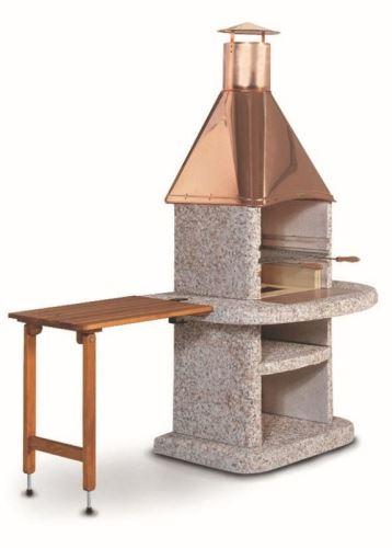 stolek Arcus hnědý dřevěný s držákem