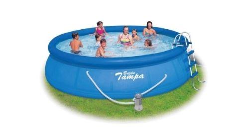 TAMPA bazén kruh 4,57x1,22m KOMPLET(filtr.kartušová + schůdky + podložka + krycí plac