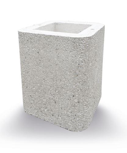 komín. beton díl 28x28x40cm, hnědý jemný vymývaný, rovný ATLAS/SIESTA