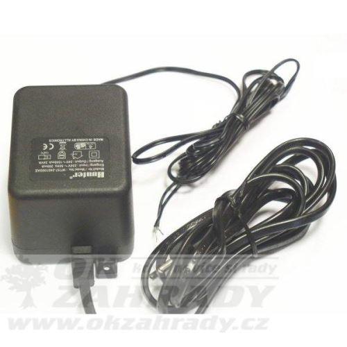 Externí trafo 230V / 24V ac, 25 VA, nástěnné s úchyty na zeď, kabel 1,5m