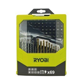 RAK 69 MIX - 69 ks sada vrtáků a šroubovacích bitů