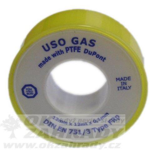 Teflonová těsnící páska 12mm x 10m x 0,1 mm - typ r