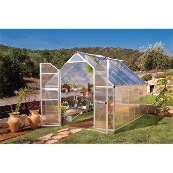 Essence 8x12 silver - polykarbonátový skleník