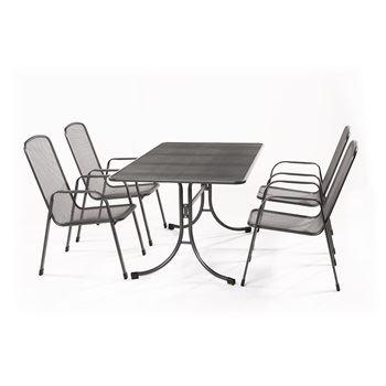 Bani 4+ - sestava nábytku z tahokovu (4x židle Savoy Basic, 1x stůl Universal 145)
