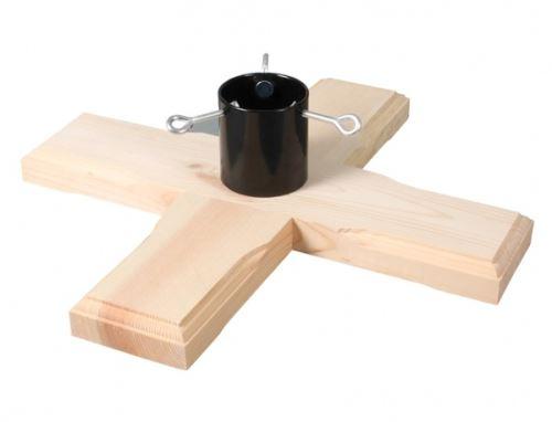stojan pod ván. stromek 45x45cm/dřevěný/v12cm
